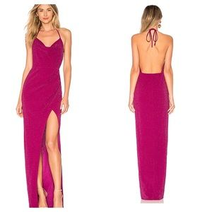 Michael Costello x REVOLVE Semira Gown in Magenta